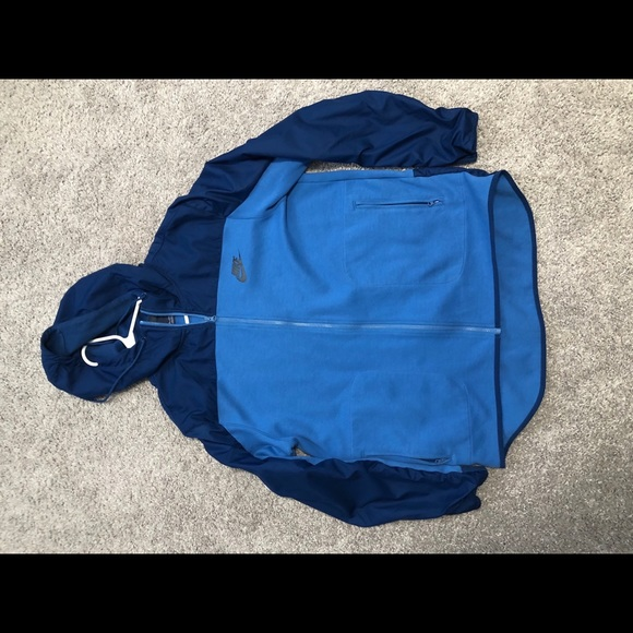 Nike Other - Men's XXL Nike blue zip up with hood
